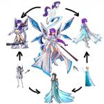 black_hair cleavage clothed clothing elsa equine female friendship_is_magic frozen fusion hair hexafusion horn human kill_la_kill mammal my_little_pony plain_background ponytail purple_hair rarity_(mlp) satsuki_kiryuuin sword unicorn weapon white_background   Rating: Safe  Score: 7  User: Juni221  Date: April 19, 2014