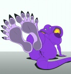 5_toes animated anthro arbok big_breasts blinking breasts claws female foot_focus hindpaw huge_breasts looking_at_viewer lying nintendo nipples nude on_back paws plantigrade pokémon pokémorph purple_body pussy sebrina_arbok smile soles solo toes video_games zp92  Rating: Explicit Score: 23 User: zp92 Date: September 17, 2012