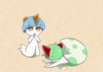 alternate_color ambiguous_gender blue_hair blush cute egg green_hair hair hatching horn humanoid nintendo not_furry open_mouth pokémon ralts sana!rpg shiny simple_background video_games white_skin yellow_eyes yes!rpg youngRating: SafeScore: 1User: EtriaxDate: November 21, 2016