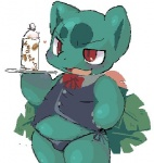 anthro beverage bow clothing flora_fauna food ivysaur low_res male nintendo noriburu overweight plant pokémon pokémon_(species) red_eyes ribbons scalie simple_background slightly_chubby solo source_request underwear video_games white_backgroundRating: QuestionableScore: 14User: slyroonDate: October 04, 2010