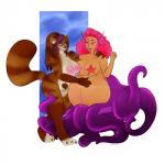2016 anthro areola bear belly big_belly big_breasts black_nose blush breasts brown_fur brown_hair cephalopod claws digital_media_(artwork) duo female fur gloves_(marking) green_eyes hair half-closed_eyes hi_res humanoid_face kriwu long_hair mammal marine markings miyuki_(helzimgiger) multicolored_hair nimin nipples nude octomaid octopus pandaren pink_hair pregnant pubes purple_eyes purple_hair pussy raised_tail red_fur red_panda simple_background smile socks_(marking) stripes tentacles two_tone_hair video_games warcraft white_fur wide_hips  Rating: Explicit Score: 2 User: HelzimGiger Date: April 18, 2016
