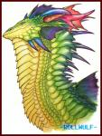 ambiguous_gender dragon fin horn long_neck profile reptile rollwulf scales scalie simple_background solo spikes traditional_media_(artwork)  Rating: Safe Score: 7 User: Miurne Date: May 07, 2014