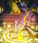 """2015 anthro anthrofied avante92 big_breasts blue_eyes breasts candle cartoon equine female friendship_is_magic fur grey_fur hair looking_at_viewer mammal multicolored_hair my_little_pony navel nipples nude pussy ritual solo two_tone_hair zebra zecora_(mlp)  Rating: Explicit Score: 48 User: ultragamer89 Date: January 24, 2015"""""""