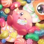 alien blue_eyes blush candy duo food hi_res kirby kirby_(series) male nintendo not_furry one_eye_closed video_games waddling_head wink もっぷ  Rating: Safe Score: 3 User: Cαnε751 Date: February 06, 2016