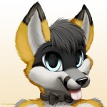 2013 anthro canine cute fox hair jamesfoxbr looking_at_viewer male open_mouth plain_background smile solo tongue   Rating: Safe  Score: 5  User: jamesfoxbr  Date: June 16, 2013