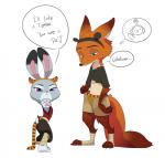 2016 anthro canine claws cosplay dialogue disney duo fake_cat_ears fake_ears female fox frown fur green_eyes grey_fur judy_hopps kung_fu_panda lagomorph long_ears male mammal master_tigress nick_wilde orange_fur pawpads po pose purple_eyes rabbit size_difference standing teletubbies thought_bubble toe_claws zootopia  Rating: Safe Score: 38 User: neepokra Date: March 09, 2016