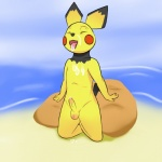 anthro anthrofied beach cub cum cum_on_chest cum_on_face issac_lazarus kneeling male mammal mouse nintendo penis pichu pokémon rodent seaside solo tongue tongue_out uncut video_games young  Rating: Explicit Score: 0 User: Issac_Lazarus Date: November 23, 2015