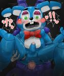 ! 2017 <3 ?! anal anal_penetration animatronic anthro anthro_on_anthro balls big_penis black_background blue_balls blue_body blue_penis blush buckteeth censored duo enigi09 erection faceless_male five_nights_at_freddy's five_nights_at_freddy's_2 green_eyes hand_on_thigh lagomorph looking_down machine male male/male mammal mosaic_censorship motion_lines open_mouth penetration penis pink_penis precum purple_balls purple_body rabbit robot saliva sex simple_background size_difference solo_focus stand_and_carry_position standing sweat teeth toy_bonnie_(fnaf) video_games withered_bonnie_(fnaf)Rating: ExplicitScore: 7User: StrikermanDate: July 21, 2017