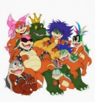 group hug iggy_koopa king_koopa koopa koopaling larry_koopa lemmy_koopa ludwig_von_koopa mario_bros morton_koopa_jr. nintendo roy_koopa scalie super_mario_bros_super_show video_games wendy_o_koopa zetsho  Rating: Safe Score: 2 User: charmandrigo Date: January 25, 2016