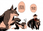 ambiguous_gender canine daughter digital_media_(artwork) dog female feral gift group hat human interspecies lagomorph love male mammal pet rabbit ribbons role_reversal sanzo scar suit wolf  Rating: Safe Score: 16 User: MidoriTranslates Date: July 08, 2015