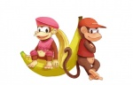 3_toes banana barefoot blonde_hair brown_fur clothing diddy_kong dixie_kong donkey_kong_(series) duo female food fruit fur hair hat long_hair male mammal monkey navel nintendo plain_background ponytail primate sitting toes unknown_artist video_games   Rating: Safe  Score: 2  User: Cαnε751  Date: April 22, 2015