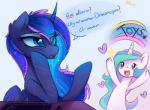 ... 2016 <3 ? blue_hair blush cute dialogue duo english_text equine feathered_wings feathers female feral friendship_is_magic hair hi_res horn long_hair lyra-senpai mammal multicolored_hair my_little_pony open_mouth princess_celestia_(mlp) princess_luna_(mlp) rainbow simple_background text underhoof unicorn white_background winged_unicorn wings  Rating: Safe Score: 16 User: Egekilde Date: March 24, 2016