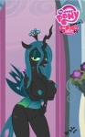 anthro anthrofied big_breasts black_body blue_nipples breasts changeling clothed clothing duo el-loko equine fangs female friendship_is_magic hair horn horse huge_breasts makeup mammal my_little_pony nipples nude open_mouth pussy queen_chrysalis_(mlp) royalty skimpy wings   Rating: Explicit  Score: 43  User: Crowley01  Date: July 17, 2012