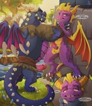 activision anthro asphyxiation balls breath_play bubba_(spyro) choking conditional_dnp dialogue dragon duo erection genitals hi_res lifted_by_neck male male/male masturbation neck_grab outside penile penile_masturbation penis pinned size_difference spyro spyro_reignited_trilogy spyro_the_dragon strangling swamp video_games wings xnirox