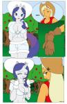 ... anthro anthrofied apple applejack_(mlp) blonde_hair blue_eyes breasts cleavage clothed clothing comic dekomaru duo earth_pony equine eyeshadow female freckles friendship_is_magic fruit fur gloves green_eyes hair hat horn horse makeup mammal midriff my_little_pony navel orange_fur pony purple_hair rarity_(mlp) stetson thehotroom tree unicorn white_fur  Rating: Safe Score: 0 User: Googlipod Date: November 09, 2015