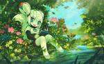 2015 anthro barefoot blue_eyes exotic_pupils female flower forest hi_res kiki_the_cyber_squirrel krita_(program) machine mammal mascot pen pink_eyes plant robot rodent signature sitting solo squirrel tree tysontan water