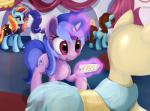 2015 clothing cutie_mark dress earth_pony equine female feral friendship_is_magic fur group hair hi_res horn horse inside magic mammal mannequin multicolored_hair my_little_pony pink_fur pony price_tag purple_hair rarity_(mlp) red_eyes sassy_saddles_(mlp) scootiebloom sea_swirl_(mlp) two_tone_hair unicorn unknown_character white_fur  Rating: Safe Score: 7 User: ConsciousDonkey Date: January 26, 2016