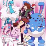 absurd_res altaria azumarill clefable eeveelution hi_res human klefki mammal my_hero_academia nintendo ochaco_uraraka pokéball pokémon pokémon_(species) sylveon togepi video_games zeaw90