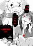 2015 <3 asriel_dreemurr bani-chan chara_(undertale) crying dialogue english_text flowey_the_flower hi_res human humor knife locket mammal plant protagonist_(undertale) red_eyes scared shocked striped_shirt tears text undertale video_games  Rating: Safe Score: 12 User: TheJudgeOfZone0 Date: January 09, 2016