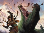 amazing antlers blood dragon fight horn human knife landscape magic_the_gathering male mammal mountain official_art pain painting_(artwork) punch scalie signature surrak_dragonclaw teeth traditional_media_(artwork) warrior wayne_reynolds   Rating: Safe  Score: 4  User: Shardshatter  Date: March 22, 2015
