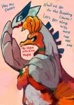 ambiguous_gender annoyed blue_eyes feathers hand_on_shoulder ho-oh inviting legendary_pokémon lugia nintendo orange_eyes orange_feathers ouroporos pokémon pokémon_(species) rejection side_by_side standing video_games white_feathers