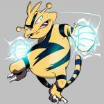 electabuzz electricity fangs nintendo pokémon pokémon_(species) solo unknown_artist video_gamesRating: SafeScore: 2User: Rad_DudesmanDate: November 05, 2017