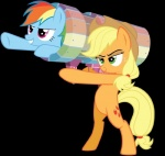 applejack_(mlp) blonde_hair cutie_mark duo earth_pony equine female feral freckles friendship_is_magic green_eyes hair hat horse launcher mammal multicolored_hair my_little_pony pegasus pony rainbow_dash_(mlp) rainbow_hair ranged_weapon weapon wings  Rating: Safe Score: 2 User: QuetzalcoatlColorado Date: February 21, 2016