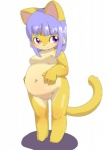 breasts cat chubby cub feline female fur hair kemono loli mammal nipples purple_eyes purple_hair yellow_fur young とのむらひでお   Rating: Explicit  Score: 0  User: KemonoLover96  Date: May 06, 2015