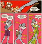 anthro blonde_hair brown_hair bugs_bunny comic crossdressing dialogue dress edit english_text girly grey_hair hair horn human lagomorph lola looney_tunes male mammal rabbit show text unknown_artist viking warner_brothers   Rating: Safe  Score: 15  User: pingpong101  Date: May 31, 2012
