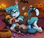 3_toes ahegao balls bed bedroom_eyes blue_fur blush brown_nose candle candy canine chaia costume cum cum_drip cum_in_pussy cum_inside cute cute_fangs darkmirage dripping female food fruit fur gag half-closed_eyes haloween hybrid larger_male long_tail looking_pleasured male male/female mammal nintendo on_bed open_mouth pawpads penetration penis pillow pokémon pokémon_(species) pumpkin pussy quetzalli_(character) seductive sex size_difference skull smaller_female spread_legs spreading tail_ring toes tongue tongue_out vaginal vaginal_penetration video_gamesRating: ExplicitScore: 14User: H2O2Date: April 25, 2018