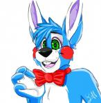 animatronic bow_tie eoki-san_(artist) five_nights_at_freddy's five_nights_at_freddy's_2 green_eyes lagomorph machine male mammal mechanical rabbit robot toy_bonnie_(fnaf) video_games   Rating: Safe  Score: 2  User: Kario-xi  Date: May 26, 2015
