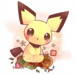 ambiguous_gender cub cute mammal nintendo pichu pokémon pokémon_(species) rodent solo unknown_artist video_games young