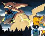 ash_ketchum black_hair blood clothed clothing crossover female feral fur group hair human machine male mammal mecha misty_(pokémon) neon_genesis_evangelion nintendo orange_hair outside parody pikachu pokémon rodent sky sweat sweatdrop tree unknown_artist video_games wood yellow_fur  Rating: Safe Score: 5 User: Granberia Date: October 24, 2014