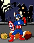 2015 anthro captain_america costume flexing flinters green_eyes halloween hi_res holidays male mammal marvel mask muscular nut-case pumpkin red_panda shield sketch solo united_states_of_america  Rating: Safe Score: 2 User: Wadxxx Date: October 17, 2015