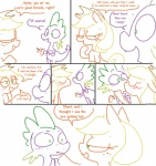 """2012 apple applejack_(mlp) applejack_season blush comic dialogue dragon english_text equine friendship_is_magic fruit horse in_heat mammal my_little_pony pony scalie spike_(mlp) sweat text the_weaver  Rating: Questionable Score: 11 User: Hydrophilicguy Date: May 11, 2015"""""""