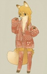 anthro canine clothing female fox hair invalid_tag legwear looking_at_viewer mammal orange_hair s1120411 solo stockings   Rating: Questionable  Score: 0  User: rehcse  Date: May 24, 2015