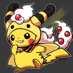 cosplay costume huiro looking_at_viewer nintendo outline pikachu pokémon solo toony video_games  Rating: Safe Score: 6 User: tengger Date: December 17, 2015