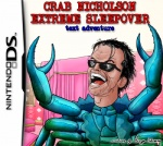 aeryn_skirrow arthropod black_hair blue_body blue_crab cover_art crab crab_nicholson crab_nicholson_extreme_sleepover crustacean eyewear glasses hair human humor hybrid jack_nicholson low_res male mammal marine nintendo nintendo_ds open_mouth short_hair solo standing sunglasses video_games what what_has_science_done why