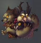 2012 ambiguous_gender antlers avian beak canine druid duo horn magic_user mammal moonkin shikoku tribal_spellcaster video_games warcraft were werewolf worgen   Rating: Safe  Score: 1  User: tony311  Date: October 21, 2012