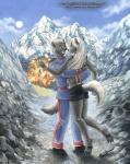 2006 anthro bear canine clothing duo explosion female fox hug kacey knife male mammal midriff mountain shorts uniform  Rating: Safe Score: 1 User: Kald Date: February 19, 2010
