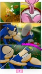 2013 amy_rose anthro blue_fur butt clothing comic dialogue dress duo eyes_closed female footwear fur hedgehog hi_res male mammal nobody147 panties pink_fur shoes sign skirt sleeping smile sonic_(series) sonic_the_hedgehog text underwear upskirt