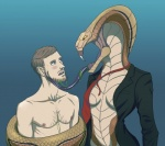 alien breasts cobra coils deliciouslydemented duo fangs female human licking male male/female mammal naga necktie reptile scalie snake squeezing suit tongue tongue_out video_games viper_(x-com) x-com  Rating: Questionable Score: 9 User: SwiftNimblefoot Date: June 29, 2015""