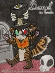 ambiguous_gender anthro book_cover boots cat cute english_text feline french fur lionel looking_at_viewer magic_user mammal necromancer pentagram puss_in_boots skull solo striped_fur stripes text vonderdevil   Rating: Safe  Score: 2  User: Vonder  Date: March 05, 2012