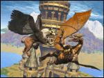 3d_(artwork) ambiguous_gender avian cgi claws digital_media_(artwork) dragon duo feral fight flying fur gryphon open_mouth scalie teeth unknown_artist  Rating: Safe Score: -4 User: xenowyvern Date: November 07, 2014