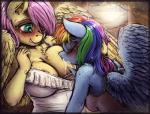 2015 anthro anthrofied bantha big_breasts biting_lip blue_fur blue_hair blush breast_suck breastfeeding breasts chest_tuft clothed clothing colored duo equine eyes_closed feathered_wings feathers female female/female fluttershy_(mlp) friendship_is_magic fur hair hand_in_hair hand_on_breast hi_res lactating long_hair mammal milk multicolored_hair my_little_pony one_eye_closed pegasus pink_hair rainbow_dash_(mlp) rainbow_hair sucking tuft wings yellow_fur  Rating: Questionable Score: 38 User: lemongrab Date: September 13, 2015
