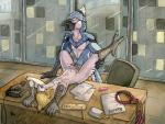 2015 anal anal_penetration anthro avian bird blue-feathers blue_jay cum desk duo eyes_closed lying male male/male office on_back penetration penis pink_feathers ruaidri spread_legs spreading unprofessional_behavior yellow_feathers   Rating: Explicit  Score: 5  User: TonyLemur  Date: April 24, 2015