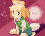 animal_crossing anthro black_nose canine clothing dog dress female hair hair_ornament isabelle_(animal_crossing) mammal nintendo short_hair solo text unknown_artist video_games  Rating: Safe Score: 2 User: Cαnε751 Date: November 09, 2015