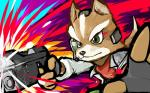 anthro black_nose brown_fur canine fingerless_gloves fox fox_mccloud fur gloves green_eyes gun handgun headset ishmam jacket male mammal nintendo ranged_weapon scarf solo star_fox video_games weapon white_fur   Rating: Safe  Score: 2  User: Cαnε751  Date: March 02, 2015
