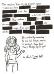 anthro black_and_white censored cleavage clothed clothing dialogue english_text eyes_closed female feretta feretta_(character) hair mammal monochrome open_mouth red_panda simple_background solo text tumblr white_background  Rating: Questionable Score: 2 User: NotMeNotYou Date: April 13, 2014