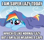 2013 bed bedding blanket blue_fur cloud cute english_text equine female feral friendship_is_magic fur hair horse image_macro inside lying mammal meme multicolored_hair my_little_pony on_bed on_front pony purple_eyes rainbow_dash_(mlp) rainbow_hair sketchyjackie sky solo text under_sheets young